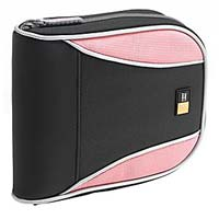 Case Logic Nylon CD Wallet 32 Capacity Black/Pink
