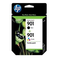 HP 901 Black/Tri-color Ink Cartridge Combo Pack