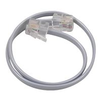 Audiovox Electronics RJ-11 Male to RJ-11 Male Phone Line Cord 1 ft. - Silver