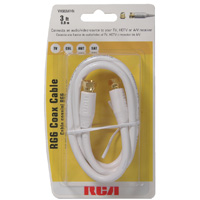 Audiovox Electronics RG6 Coax Cable 3 ft. White