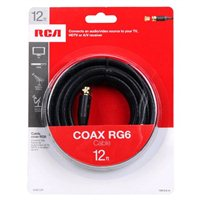 RCA Coax Male to Coax Male RG-6 Cable 12 ft. - Black
