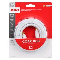 RCA RG6 Coax Cable 12 Foot White