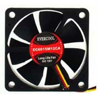Evercool 60mm Thin Case Fan EC6015M12CA