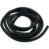 "The Best Connection Flex-Guard Convoluted Tubing, Split Seam 3/8"" x 10 ft Black"