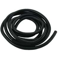 "The Best Connection Flex-Guard Convoluted Tubing, Split Seam 1/2"" x 7 ft Black"