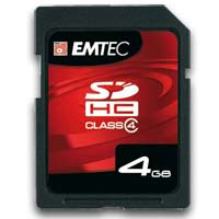 Emtec International 4GB Class 4 Secure Digital High Capacity (SDHC) Flash Media Card EKMSD4GB60XHC