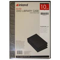 Inland 14mm DVD Double Library Case 10 Pack