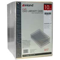 Inland 14mm DVD Case Clear 10 Pack