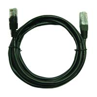 Inland Cat 5e Cables 7 ft Black 5 Pack