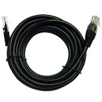 Inland Cat 5e Cable Black 14 ft 5 Pack