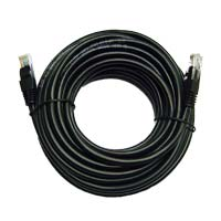 Inland Cat 5e Cable Black 25 ft 5 Pack