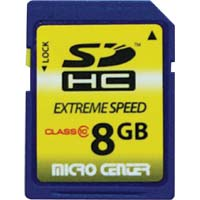 Micro Center Extreme Speed 8GB Class 10 Secure Digital High Capacity (SDHC) Flash Media Card