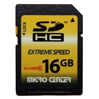 Micro Center 16GB SDHC Class 10 Flash Memory Card