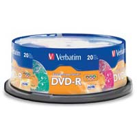 Verbatim Kaleidoscope DVD-R 16x 4.7GB 20 Pack Spindle