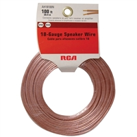 RCA Speaker Wire 100 Foot Translucent