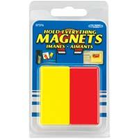 Master Magnetics Hold Everything Magnets Red/Yellow 2 Pack