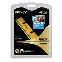 PNY Optima 4GB DDR3-1333 (PC3-10666) CL9 Desktop Memory Module