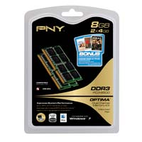 PNY Optima 8GB DDR3-1066 (PC3-8500) CL7 SO-DIMM Dual Channel Laptop Memory Kit (Two 4GB Memory Modules)
