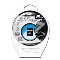 Emtec International S100 Micro 8GB USB 2.0 Flash Drive EKMMD8GS100