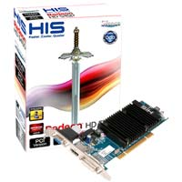 HIS H545H512P AMD Radeon HD 5450 512MB DDR3 PCI Video Card