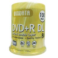 Windata DVD+R DL 8x 8.5GB 240 Minute Disc 100 Pack