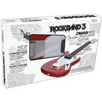 Mad Catz Rock Band 3 Wireless Fender Mustang ProGuitar Controller for Nintendo Wii Red