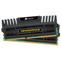 Corsair Vengeance Series 8GB DDR3-1600 (PC3-12800) CL9 Dual Channel Desktop Memory Kit (Two 4GB Memory Modules)
