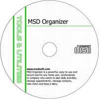 MCTS MSD Organizer Free 9.2 Freeware/Shareware CD