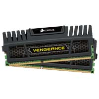 Corsair Vengeance Series 8GB DDR3-1866 (PC3-15000) CL9 Dual Channel Desktop Memory Kit (Two 4GB Memory Modules)