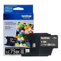 Brother LC75 High Yield Black Ink Cartridge 2-Pack