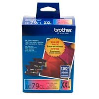 Brother LC79 Super High Yield Color Ink Cartridges 3-Pack