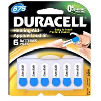 Duracell EasyTab Hearing Aid Battery #675