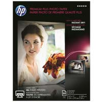 "HP 8.5"" x 11"" Premium Plus Glossy Photo Paper 50 Sheet"