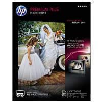 "HP 8.5"" x 11"" Premium Plus Soft Gloss Photo Paper 50 Sheet"