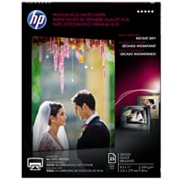 "HP 8.5"" x 11"" Premium Plus Glossy Photo Paper 25 Sheet"