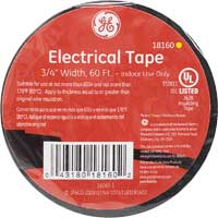 "American Heritage PVC Electrical Tape 3/4"" x 60' - Black"