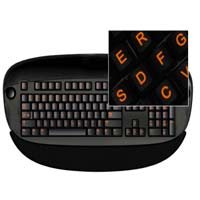 Glowing Keyboard Stickers Orange
