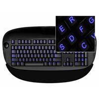 Glowing Keyboard Stickers Blue