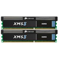 Corsair XMS3 4GB DDR3-1600 (PC3-12800) CL9 Dual Channel Desktop Memory Kit (Two 2GB Memory Modules)