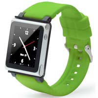 iWatchz Clear Charcoal iWatchz Clip w/ Green Band