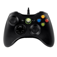 Microsoft Black Xbox 360 Wired Controller for Windows