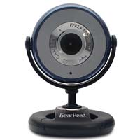 Gear Head Plug-n-Play 1.3 MP WebCam with 6 Foot USB Cable Blue