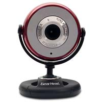 Gear Head Plug-n-Play 1.3MP WebCam with 6 Foot USB Cable Red