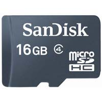 SanDisk 16GB Class 4 Micro Secure Digital High Capacity (Micro SDHC) Flash Media Card SDSDQ-16384-A11