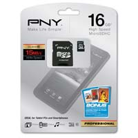 PNY 16GB Class 10 Micro Secure Digital High Capacity (Micro SDHC) Flash Media Card P-SDU16G10-EFS2