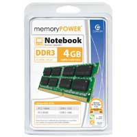 Centon MemoryPOWER 4GB DDR3-1333 PC3-10600 CL9 Dual Channel SO-DIMM Memory Module