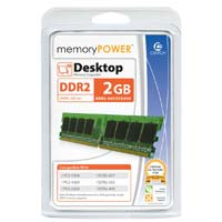 Centon MemoryPOWER 2GB DDR2-667 PC2-5300 CL5 Single Channel Desktop Memory Module