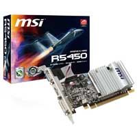 MSI R5450-MD1GD3H/LP AMD Radeon HD 5450 1024MB DDR3 PCIe 2.0 x16 Video Card