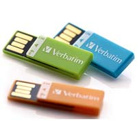 Verbatim Clip-It 3 Pack 4GB USB 2.0 Flash Drive 97563