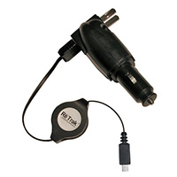 Emerge Retractable 3-n-1 USB/Wall/Car Charger for Mini 5-Pin Phones
